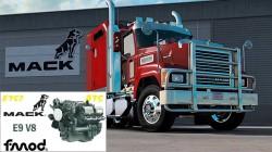 "Euro Truck Simulator 2 ""Мод Mack E9 V8 Звук двигателя v1.0 (v1.39.x)"""