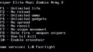 Sniper Elite Nazi Zombie Army 2: Трейнер/Trainer (+10) [1.0] {LIRW / GHL}