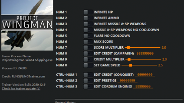 Project Wingman: Трейнер/Trainer (+13) [1.0 - 1.0.4] {FLiNG}