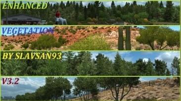 """American Truck Simulator """"Усовершенствованная растительность v3.2 (v1.38.x)"""""""