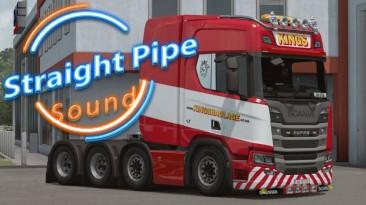 "Euro Truck Simulator 2 ""Звуки двигателя с прямоточным глушителем для грузовиков Scania (1.41.x, 1.42.x)"""