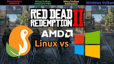 Red Dead Redemption 2 работает быстрее в Linux на графических процессорах AMD