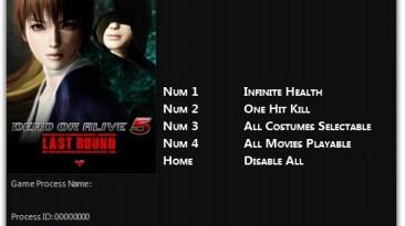 Dead or Alive 5: Last Round: Трейнер/Trainer (+4) [1.0] {FLiNG}