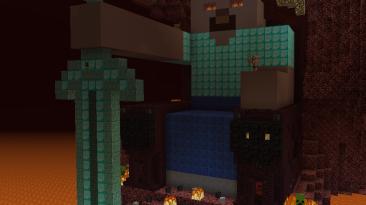 Minecraft: Сохранение/SaveGame (Много разных построек)