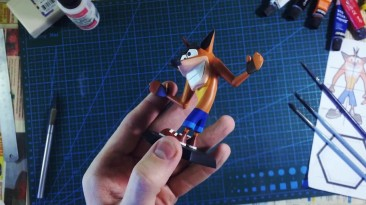 Crash Bandicoot N. Sane Trilogy - Крэш Бандикут из полимерной глины DIY