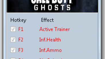 Call of Duty ~ Ghosts: Трейнер/Trainer (+8) [Update 2] {MrAntiFun}