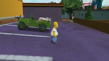 """The Simpsons Hit & Run """"Машина времен Второй мировой войны с ракетой"""""""