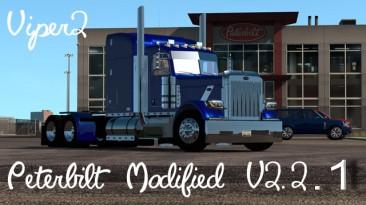 """American Truck Simulator """"Модифицированный Peterbilt 389 v2.2.1 ATS Beta TEST 1.32 Обновление от 29.08.2018"""""""