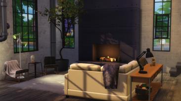 "Sims 4 ""Гостиная - Easton Living Room"""
