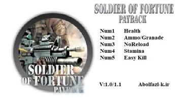 Soldier of Fortune Payback: Трейнер/Trainer (+5) [V1.0-v1.1] {Abolfazl.k}