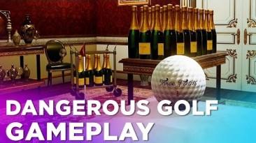 Dangerous Golf - геймплей на кухне