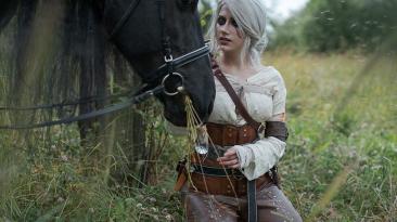 Косплей Цири из The Witcher 3: Wild Hunt