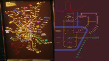Карта метро в роликах Е3 vs карта метро в игре