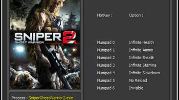 Sniper Ghost Warrior 2: Трейнер/Trainer (+7) [1.09: 3.4.4.6290] {Enjoy}