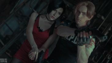 Косплей на Леона и Аду из Resident Evil 2 Remake.