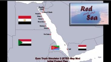 "Euro Truck Simulator 2 ""Карта Красного Моря 1.2.2 (v1.40.x)"""