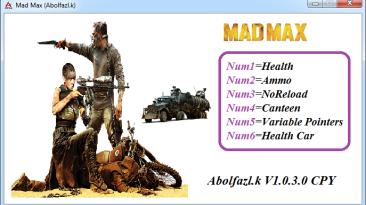Mad Max: Трейнер/Trainer (+6) [1.0.3.0] {Abolfazl-k}