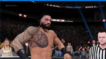 """WWE 2K16 """"Наряд рестлера Roman Reigns Clash of Champions 2020 из WWE 2K19 с анимированным лицом"""""""