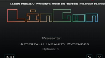 Afterfall - InSanity Extended Edition: Трейнер/Trainer (+9) [1.1.8364.0] {LinGon}
