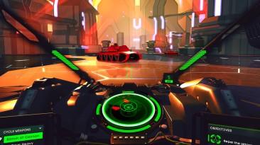 Геймплейное видео виртуальной игры Battlezone для PS VR