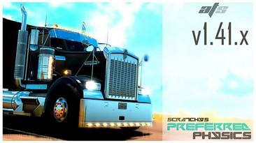 "American Truck Simulator ""Переработанная физика грузовиков v2.0 (1.41.x)"""