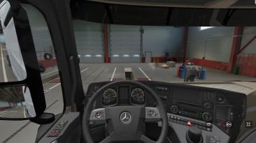 "Euro Truck Simulator 2 ""Новая приборная панель Mercedes Actros MP4 версия (v1.20.x, - 1.38.x)"""