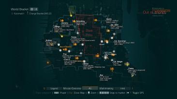 """Tom Clancy's The Division """"Карта боссов в открытом мире (не темная зона)"""""""