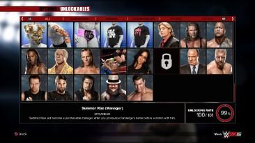 WWE 2K15: Сохранение/SaveGame (Пройден 2K Showcase на отлично, MyCareer пройдена, WWE UNIVERSE 861/861, Разблокированно 100/101)