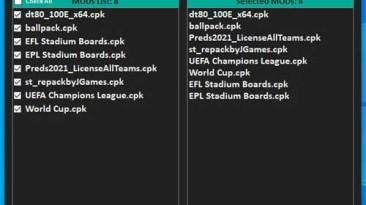 "PES 2021 ""Менеджер модов v1.0.0 DLC 5.0 [StpN_17]"""