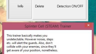 Tom Clancy's Splinter Cell: Трейнер/Trainer (+1: Невидимость / Stealth) [Latest Steam]