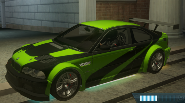 """Need for Speed: Most Wanted """"lime and black m3 gtr"""""""
