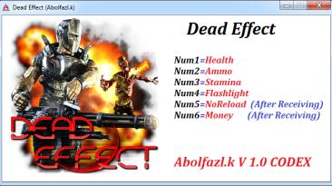 Dead Effect: Трейнер/Trainer (+6) [1.0] {Abolfazl.k}