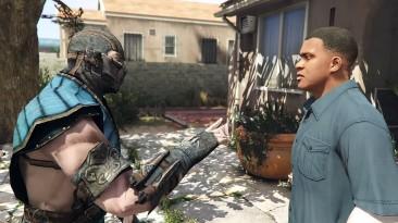 Скорпион останавливает Саб-Зиро от убийства Франклина