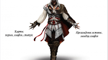 Assassin's Creed 2: Подробная карта расположения всех перьев, грифов, статуй + решение головоломок.