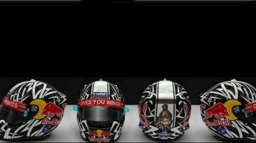 """F1 2011 """"Red Bull Tribal Helmet"""""""