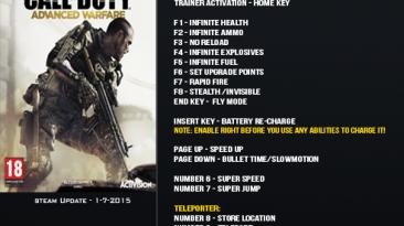 Call of Duty ~ Advanced Warfare: Трейнер/Trainer (+16) [Update 07.01.2015] {LinGon}