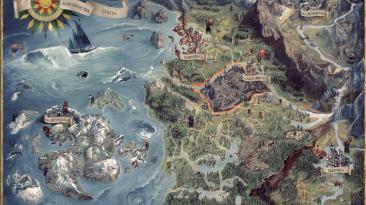 """Ведьмак 3 """"Карта мира на русском"""""""