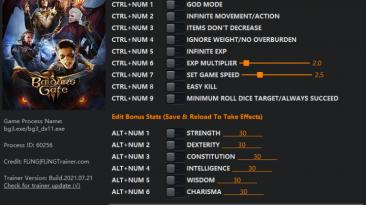 Baldur's Gate 3: Трейнер/Trainer (+15) [EA: 21.07.2021] {FLiNG}