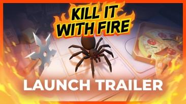 """Симулятор борьбы с пауками """"Kill It With Fire"""" теперь доступен на консолях и мобильных"""