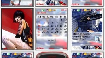 """Mirro`s Edge """"Theme for Nokia s40 240x320"""" by Yurax"""