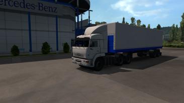 "Euro Truck Simulator 2 ""КамАЗ 54-64-65 + Прицепы Нефаз ETS2 1.36.x - 1.38.х"""