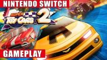24 минуты игрового процесса Switch- версии Super Toy Cars 2