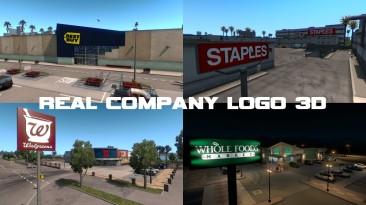 """American Truck Simulator """"Логотипы Реальных Компаний 3D v1.7 (1.38.x)"""""""