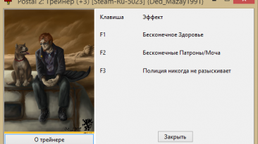 Postal 2: Трейнер/Trainer (+3) [Steam-Ru-5023] {Ded_Mazay1991}
