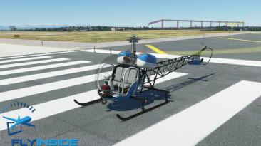 Выпущена надстройка первого вертолета Bell 47-G2 для Microsoft Flight Simulator