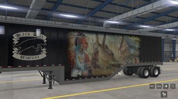 "American Truck Simulator ""Щеповоз Black Wolf Company Chip Van в Собственность ats 1.37.x"""