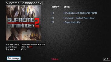 Supreme Commander 2: Трейнер/Trainer (+5) [1.260] {MrAntiFun}