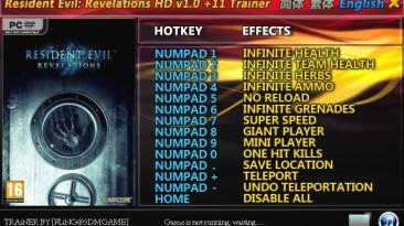 Resident Evil ~ Revelations HD: Трейнер/Trainer (+11) [1.0] {FLiNG}