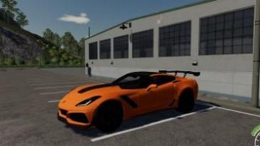 "Farming Simulator 19 ""Мод Chevrolet Corvette ZR1 C7 2019 v1.0"""