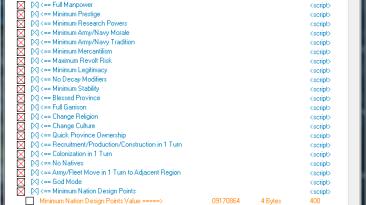 Europa Universalis 4: Cheat Table/Таблица для Cheat Engine [1.12.1.0] {Vodos}